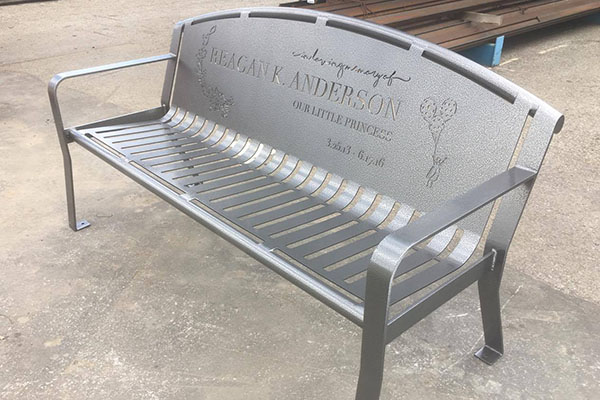 Custom Memorial Benches For Gardens