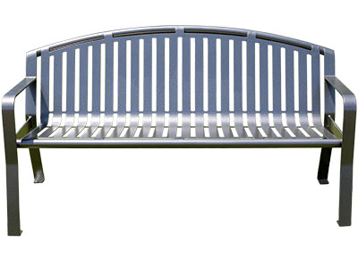 Arched Metal Benches For Parks