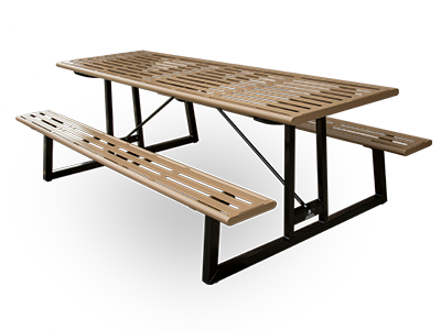 Quality site furniture powder coated metal picnic tables for pavilions and campgrounds watchthetrailerfo