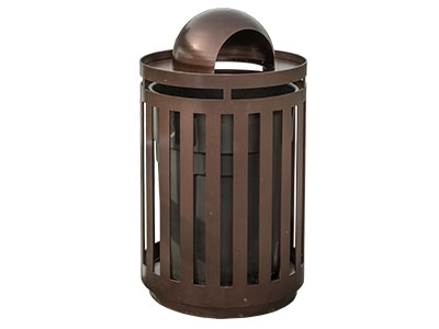 Dome Trash Receptacles For City Parks