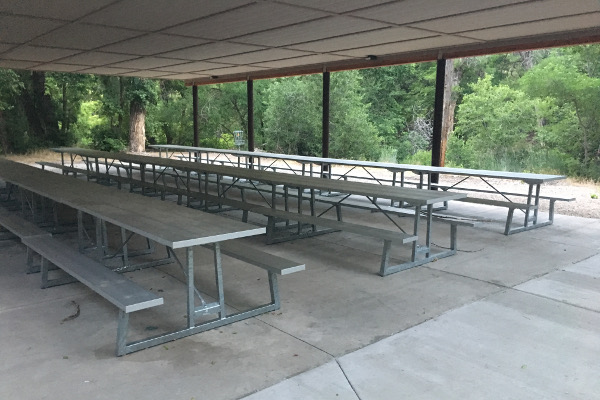 Galvanized Anodized Picnic Tables